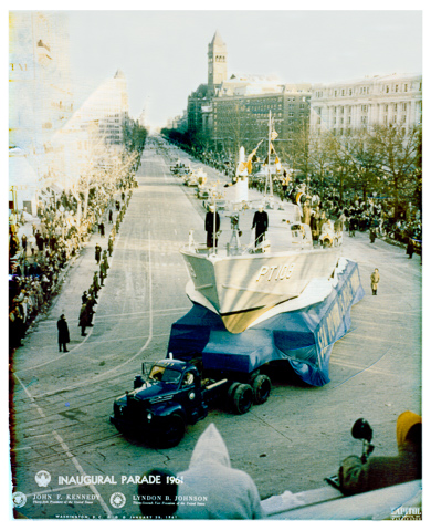 We insured the rigging company that transported Kenney's PT109 in the inaugural parade.