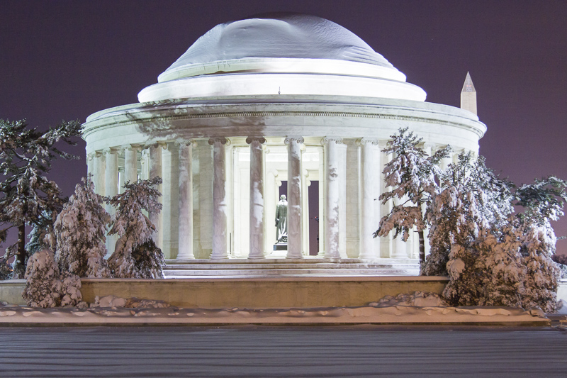 DC - Jefferson Memorial after Blizzard of 2010